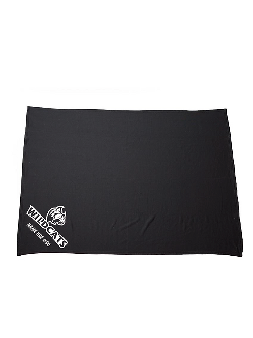 Wildcats Softball Fleece Blanket (Customizable)