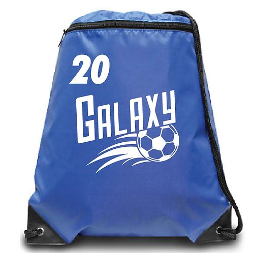 Galaxy Zippered Drawstring Backpack