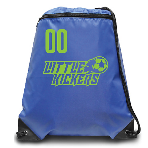 Little Kickers Zippered Drawstring Backpack