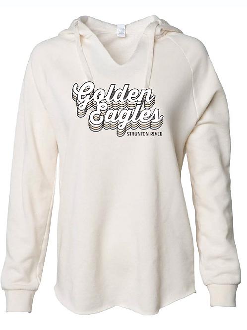 Retro Golden Eagles Womens Wavewash Hood
