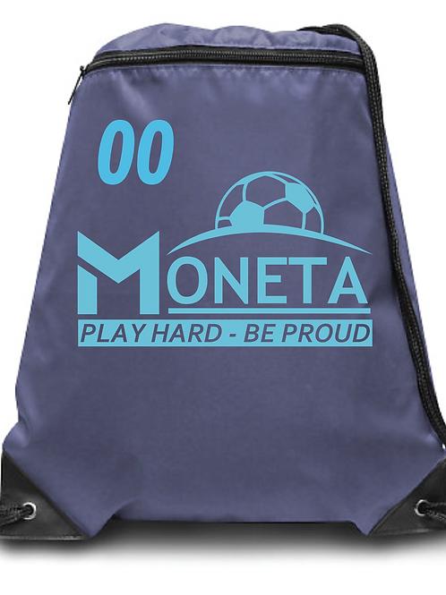 U10 Moneta Soccer Zippered Drawstring Backpack