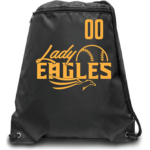 Lady Eagles Zippered Drawstring Backpack