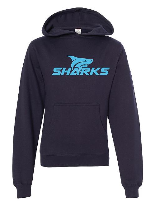Youth Fleece Hoodie  Navy - U6 Sharks Soccer