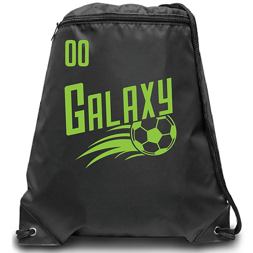 U10 Galaxy Soccer Zippered Drawstring Backpack