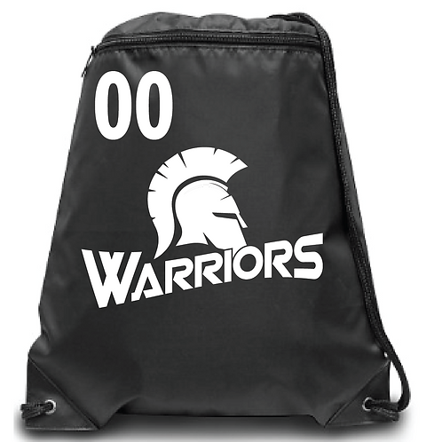 Warriors Zippered Drawstring Backpack