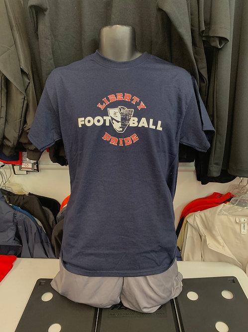 Liberty Pride Football Circle Design - Shortsleeves