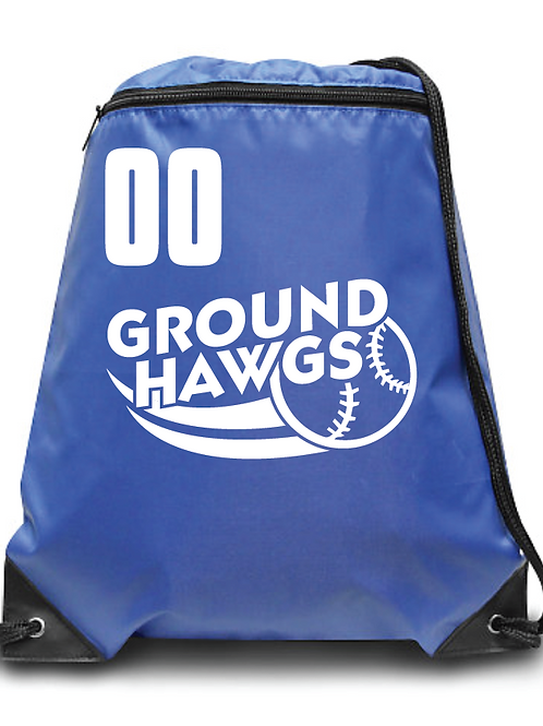 Ground Hawgs Zippered Drawstring Backpack