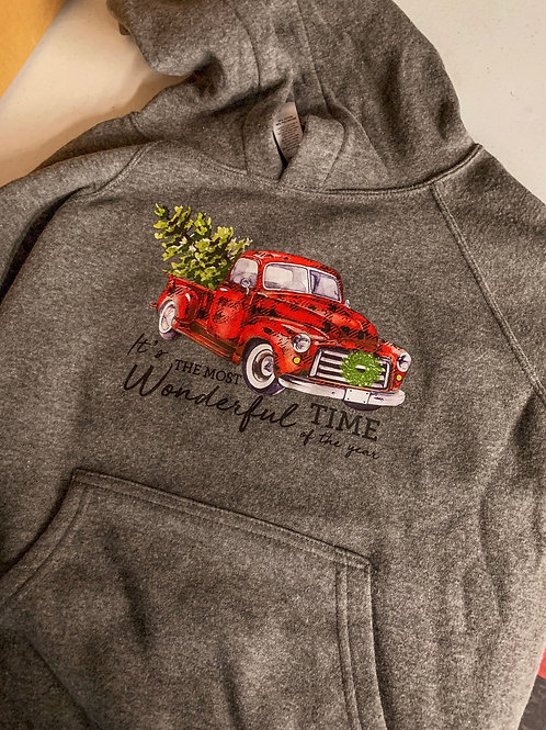 The Most Wonderful Time - Red Truck Hoodie (Youth)