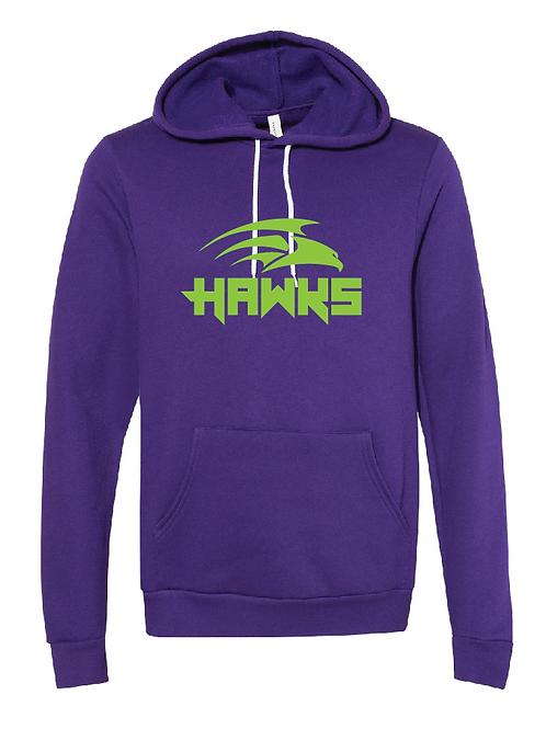 Unisex Fleece Hoodie - Hawks Soccer