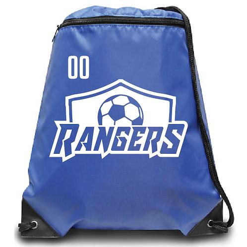 U10 Rangers Zippered Drawstring Backpack
