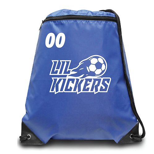 Lil Kickers Zippered Drawstring Backpack