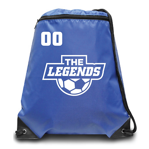 The Legends Zippered Drawstring Backpack