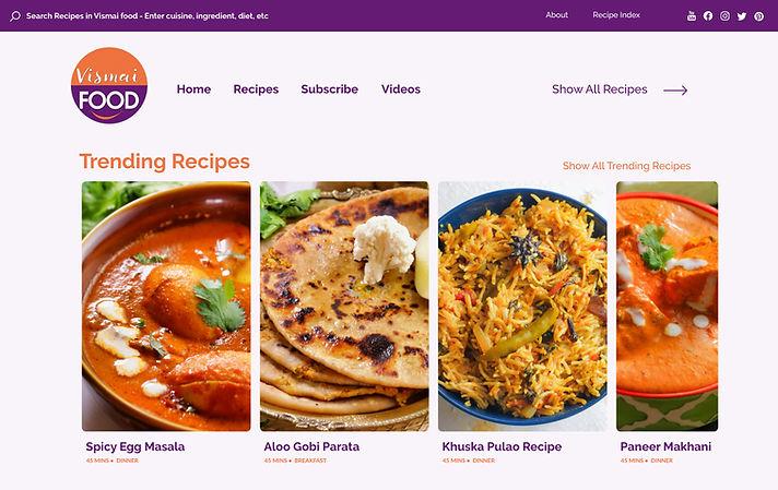 Vismai Food - Food Blogger Website