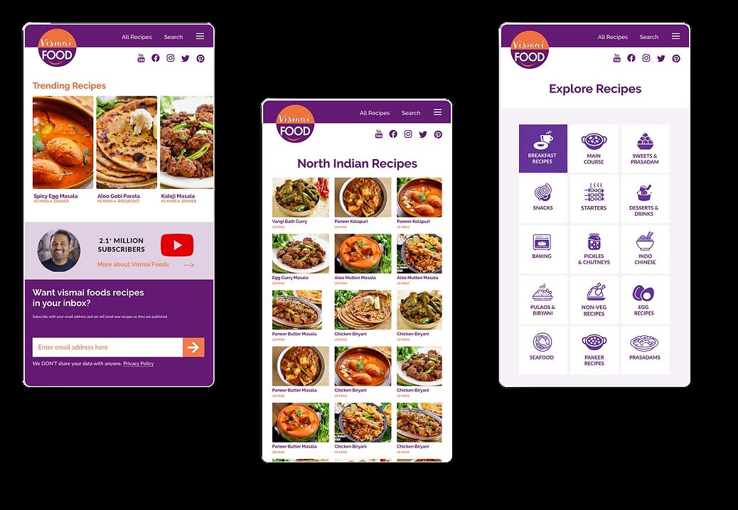 Vismai Food - Responsive Mobile Website