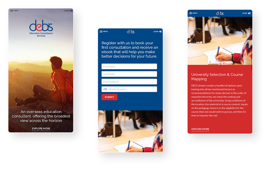 Mobile Responsive website for DECS
