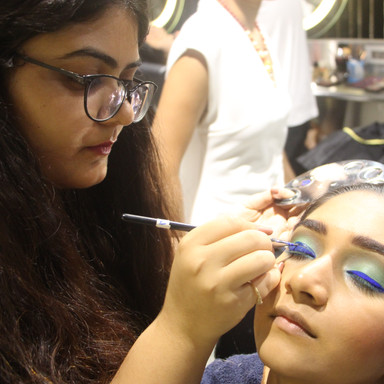 Time machine academy creative makeup students work