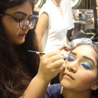 Time machine academy creative makeup students work