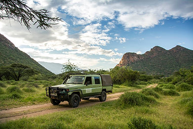 Landcruiser in Turkana at Koros camp