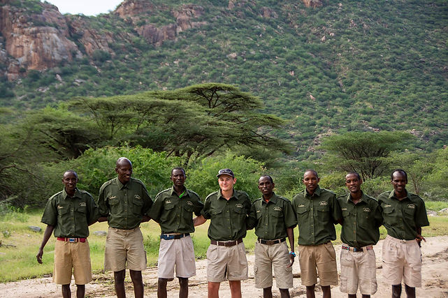 Staff at Koros Camp in Turkana, Kenya