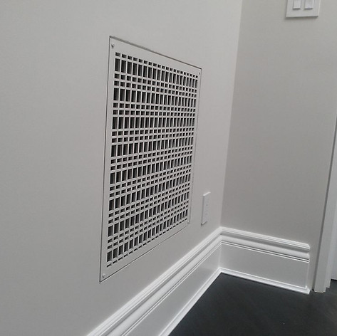 Custom Made Wall Flush Mount Return Air Grill