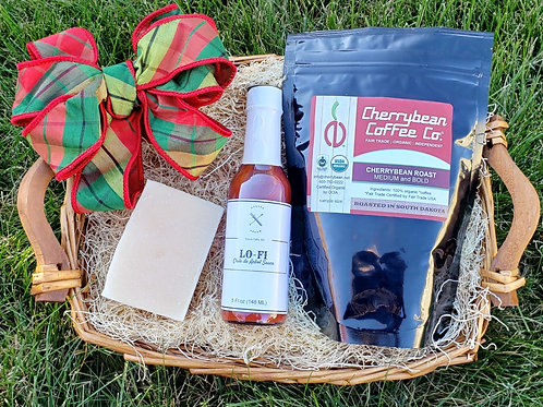 Coffee, Hot Sauce, Soap Gift Basket