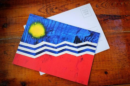 Sioux Falls Flag Postcard