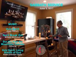 Sabbath service at the Hope Center