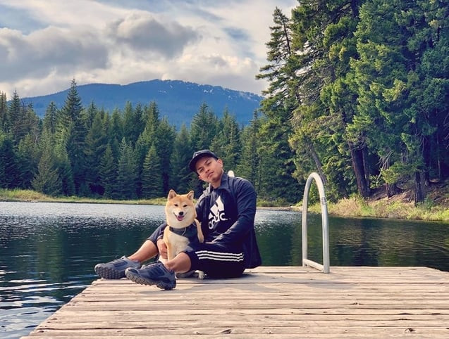 Picture of Nikita and Angieruff in a Vancouver lake