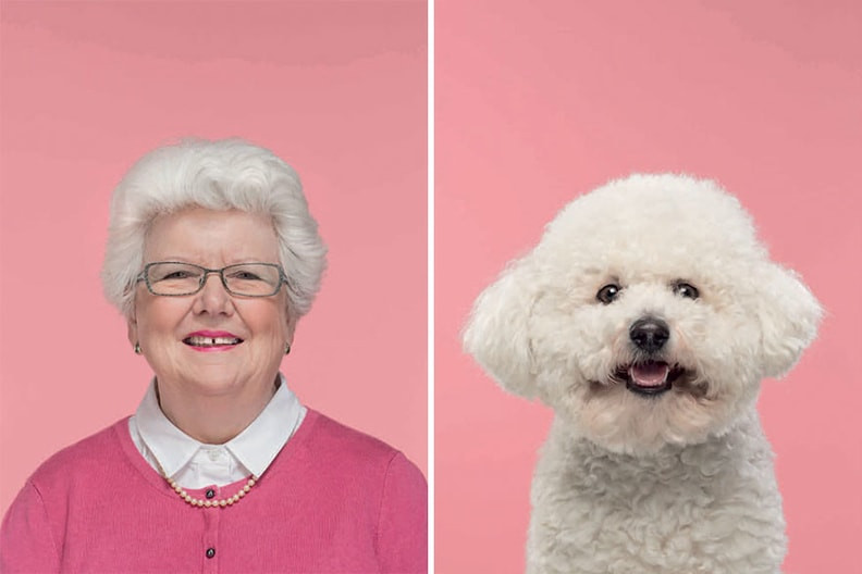 Grandma like her dog