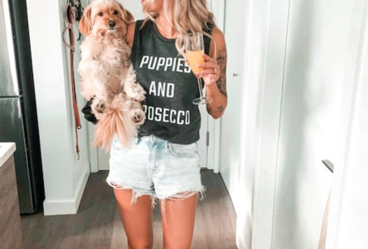 Puppies and prosecco tank