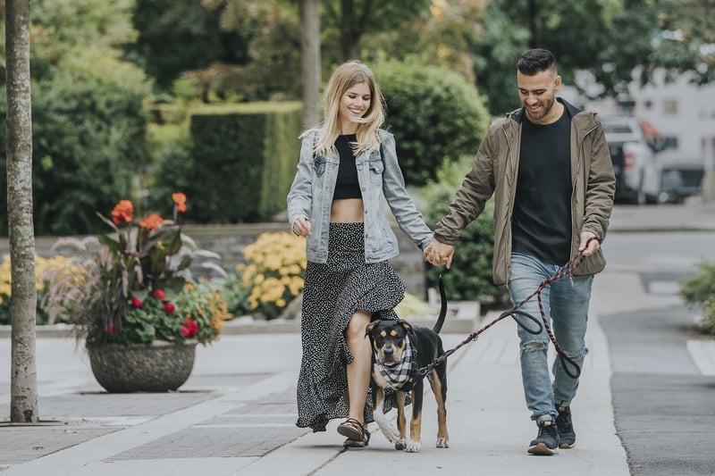 Datis and his partner walking Juniper in Vancouver