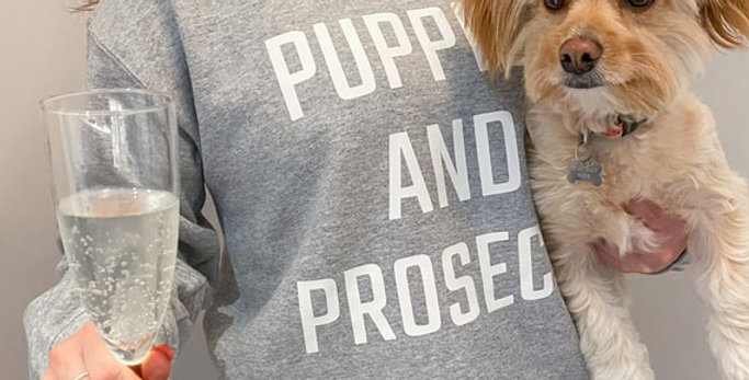 Puppies and Prosecco crewneck PawShop
