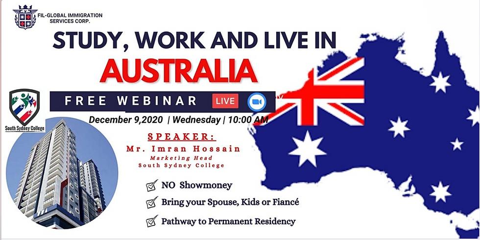 FREE WEBINAR : STUDY, WORK AND LIVE IN AUSTRALIA