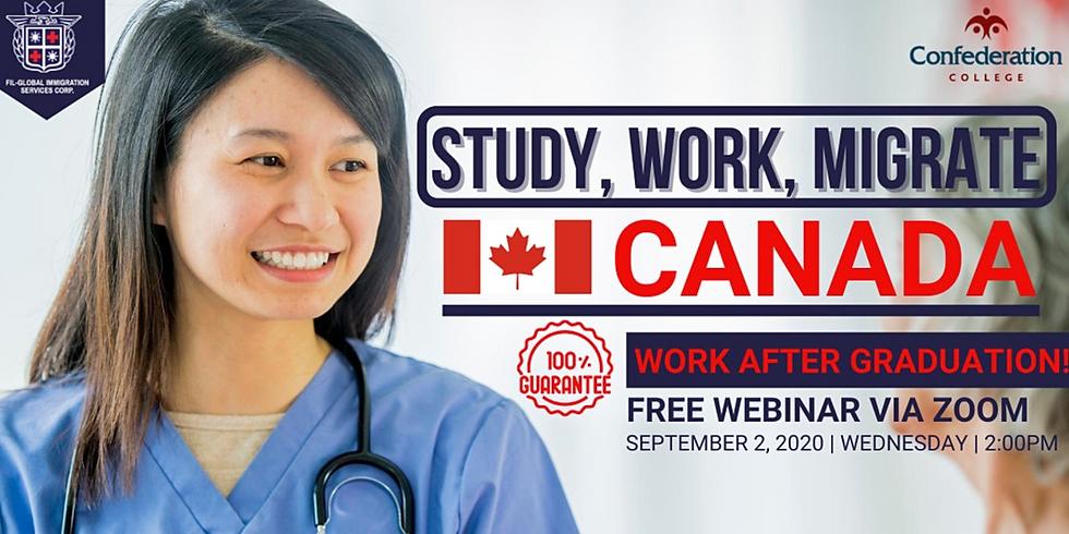 FREE WEBINAR STUDY MIGRATE TO CANADA