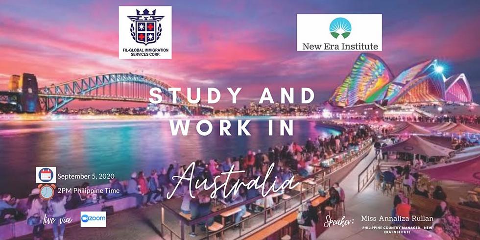 FREE WEBINAR: STUDY AND WORK IN AUSTRALIA