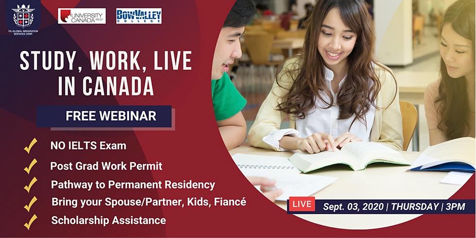FREE WEBINAR: STUDY, WORK, LIVE IN CANADA
