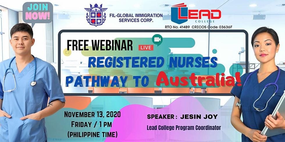 Free Webinar For Registered Nurses To Australia