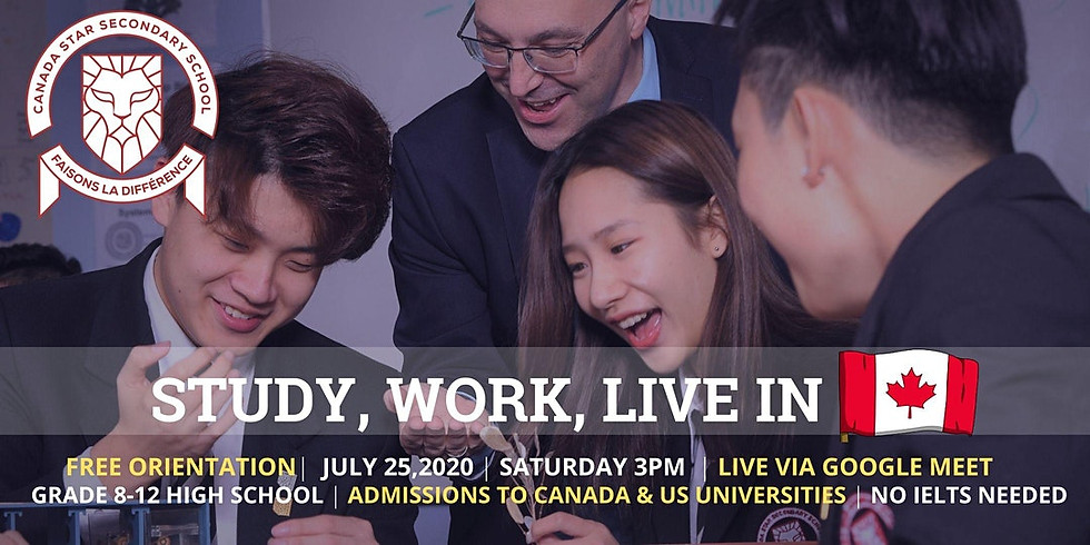 FREE WEBINAR: Study,Work and Live Abroad Canada Star Secondary