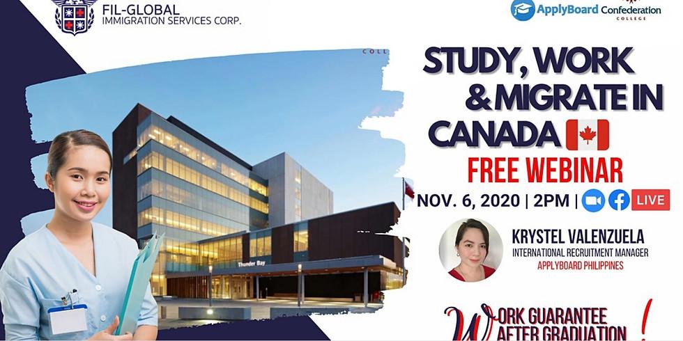 FREE WEBINAR: Study and Work Canada! Affordable Program in Canada