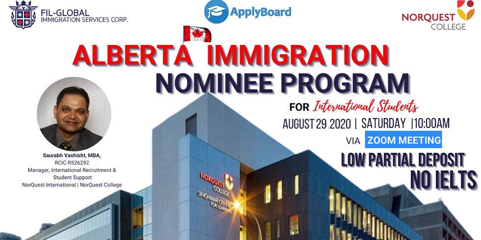 FREE WEBINAR Alberta Immigration Nominee Program By: Norquest College