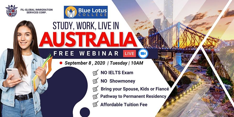 STUDY, WORK & LIVE IN AUSTRALIA   Blue Lotus College