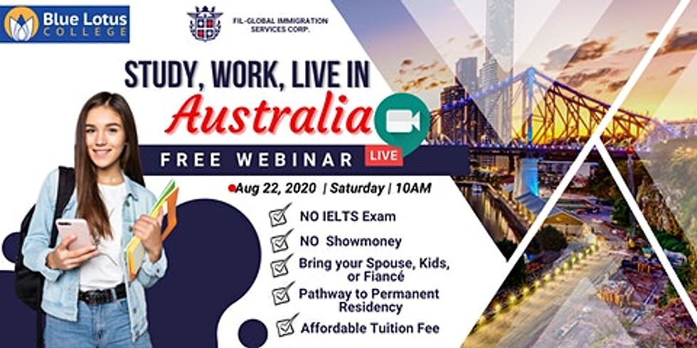Study. Work. Live in Australia
