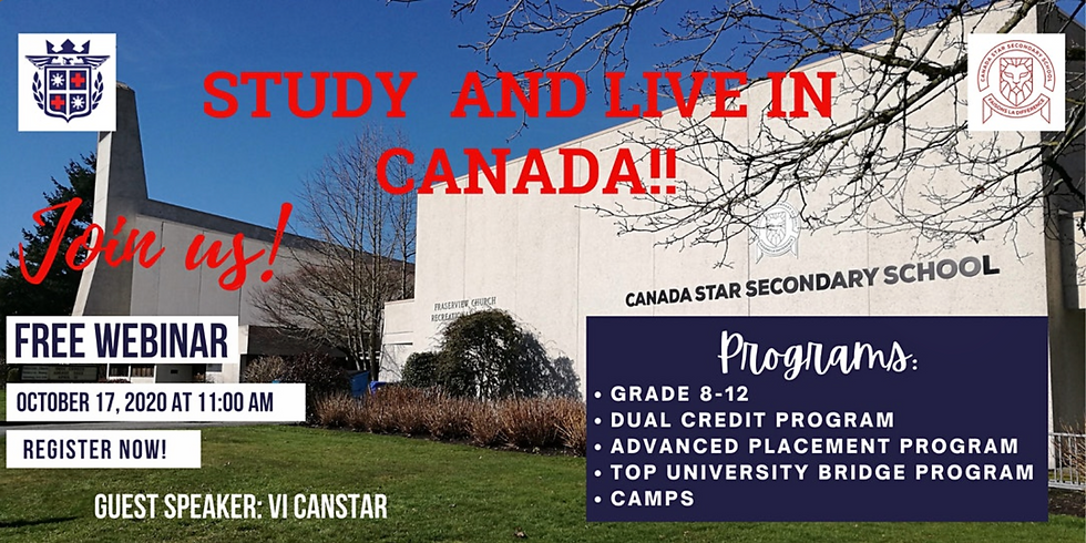 FREE WEBINAR: STUDY AND LIVE IN CANADA