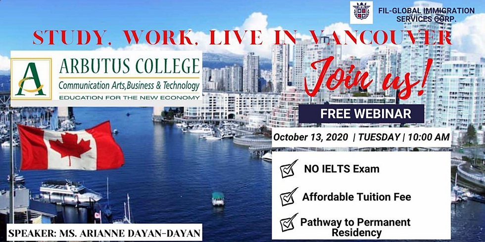 STUDY, WORK AND LIVE IN VANCOUVER CANADA
