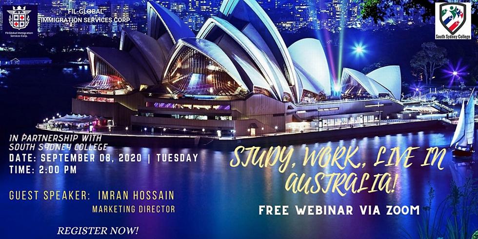 FREE WEBINAR: STUDY, WORK, LIVE IN SYDNEY AUSTRALIA!