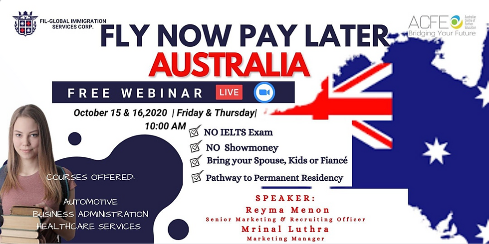 FLY NOW PAY LATER - AUSTRALIA