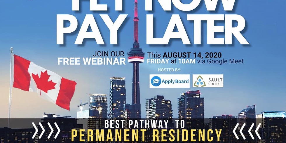 FREE WEBINAR: FLY NOW PAY LATER | Pathway to Permanent Residency in Canada