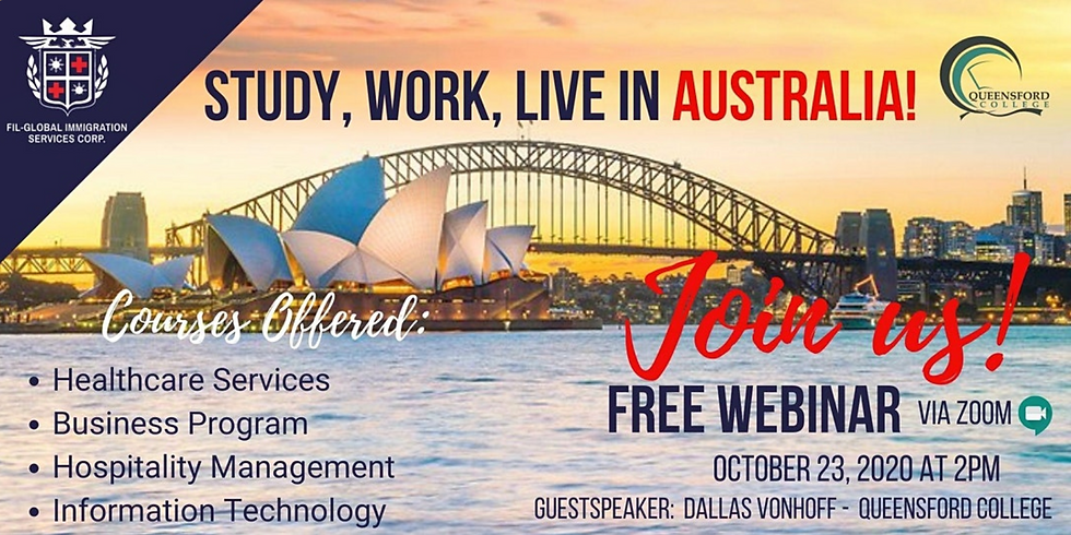 INTERESTED TO STUDY WORK AND LIVE IN AUSTRALIA!!