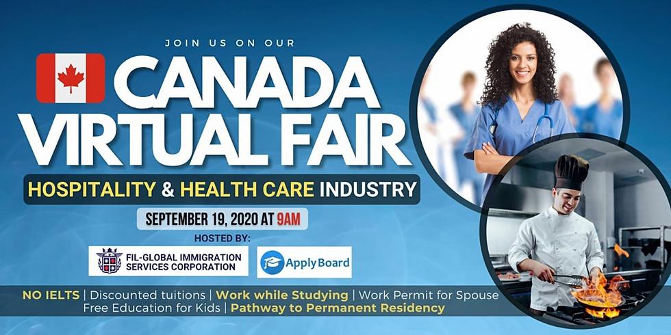 CANADA VIRTUAL FAIR 2020: HOSPITALITY & HEALTH CARE INDUSTRY