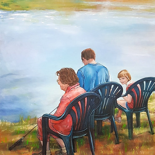 'Down by the Lake',  by Janet Leith